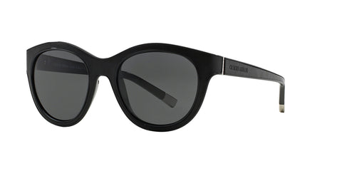 Giorgio Armani AR8032Q (Black/Black Leather frame / Grey lenses)