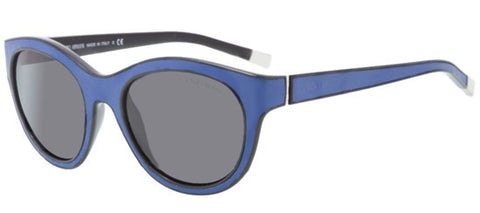 Giorgio Armani AR8032Q (Black/Periwinkle Leather frame / Grey lenses)