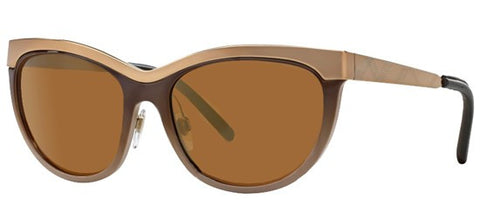 Burberry BE3076Q (Brown frame / Brown Mirror Gold lenses)