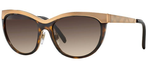 Burberry BE3076Q (Havana frame / Brown Gradient lenses)