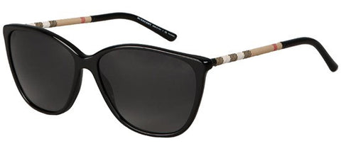 Burberry BE4117 (Black frame / Polarized Grey Gradient lenses)