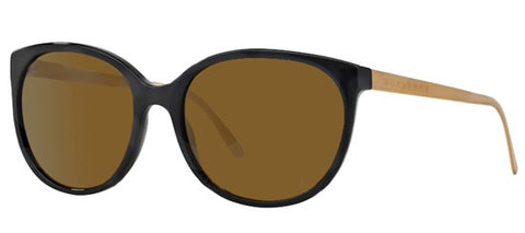 Burberry BE4146 (Black front frame / Brown Mirror Gold Gradient lenses)