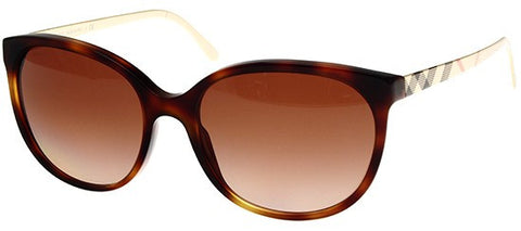 Burberry BE4146 (Havana & Beige Check frame / Brown Gradient lenses)