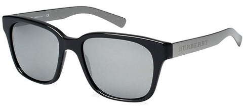 Burberry BE4148 (Black frame / Grey Mirror Silver lenses)