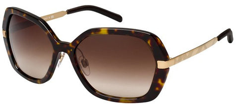 Burberry BE4153Q (Dark Havana frame / Brown Gradient lenses)