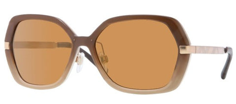 Burberry BE4153Q (Brown & Beige Gradient frame / Brown Mirror Gold lenses)