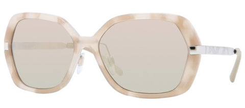 Burberry BE4153Q (Beige Havana frame / Light Brown Mirror Gold lenses)