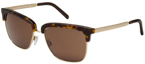 Burberry BE4154Q (Dark Havana & Gold frame / Brown lenses)