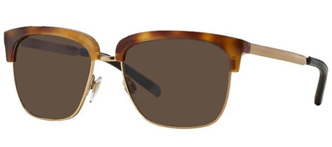 Burberry BE4154Q (Light Havana & Gold frame / Brown lenses)