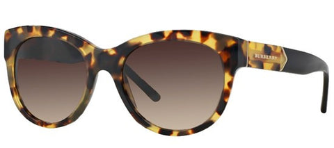 Burberry BE4156 (Yellow Havana frame / Brown Gradient lenses)