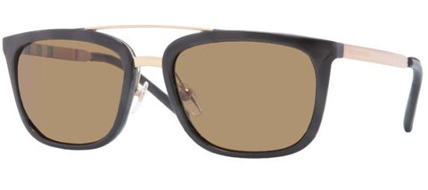 Burberry BE4167Q (Black frame / Polarized Brown lenses)