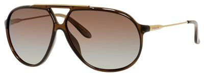 Carrera 82/S (Transparent Brown frame / Brown Polarized lenses)