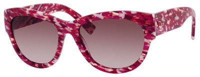 Dior Flanelle 1/S (Fuchsia Tweed frame / Lilac Mirror Gradient lenses)