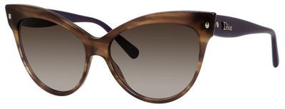 Dior Mohotani/S (Brown Striped frame / Brown Gradient lenses)