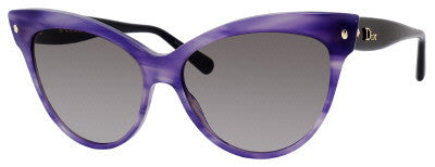 Dior Mohotani/S (Striped Violet frame / Gray Gradient lenses)