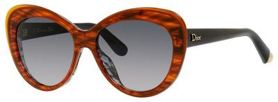 Dior Promesse 1/S (Orange Striped & Gray frame / Gray Gradient lenses)