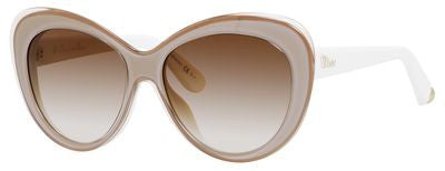 Dior Promesse 1/S (Transparent Pink Ivory frame / Brown Gradient lenses)