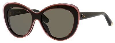 Dior Promesse 1/S (Transparent Pink & Black frame / Brown Gray lenses)