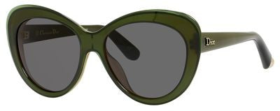 Dior Promesse 1/S (Transparent Green Coral frame / Gray lenses)