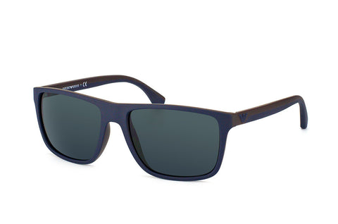 Emporio Armani EA4033 (Top Blue / Brown Rubber frame / Grey lenses)