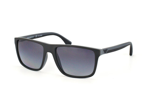 Emporio Armani EA4033 (Black/Grey Rubber frame / Polarized Grey Gradient lenses)