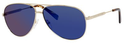 Marc by Marc Jacobs MMJ 444/S (Gold frame / Gray-Blue Mirror lenses)