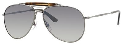 Gucci 2235/S (Dark Ruthenium frame / Gray Mirrored Silver lenses)