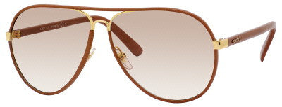 Gucci 2887/S (Cuir-Tan Leather frame / Brown Gradient lenses)