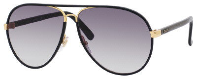 Gucci 2887/S (Black Leather frame / Gray Gradient lenses)