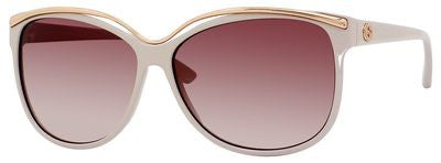 Gucci 3155/S (Beige frame / Brown Violet Shaded lenses)