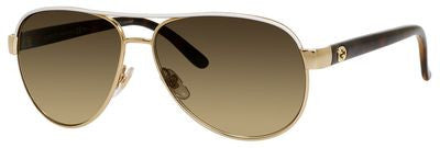 Gucci 4239/S (Ivory accent frame / Brown Gradient lenses)