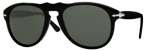 Persol PO0649 (Black frame / Crystal Green lenses)