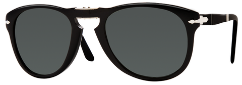 Persol PO0714 (Black frame / Crystal Green Polarized lenses)