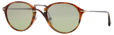 Persol PO3046S (Havana frame / Photochomatic Polarized Green Faded lenses, internal anti-glare)