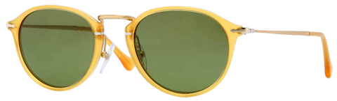 Persol PO3046S (Transparent Yellow frame / Polarized Green Anti-glare lenses)