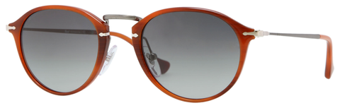 Persol PO3046S (Brown Havana frame / Crystal Dark Gray Faded Gradient lenses, anti-glare treatment)