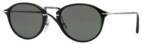 Persol PO3046S (Black frame / Polarized Crystal Green lenses, internal anti-glare treatment)