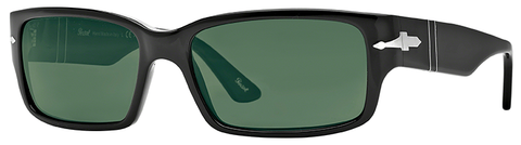 Persol PO3087S (Black frame / Crystal Green Polarized lenses)