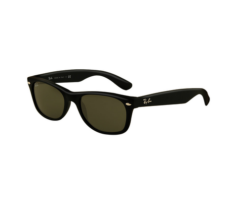 New Wayfarer Matte (Black Rubber frame / Crystal Green lenses) [IN STOCK - NEXT DAY DELIVERY]