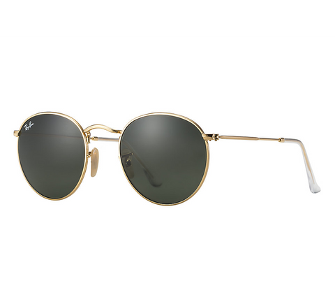 Ray-Ban Round Metal (Gold / Green Classic G-15)