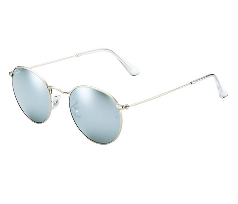 Ray-Ban Round Flash Lenses (Silver / Silver Flash)