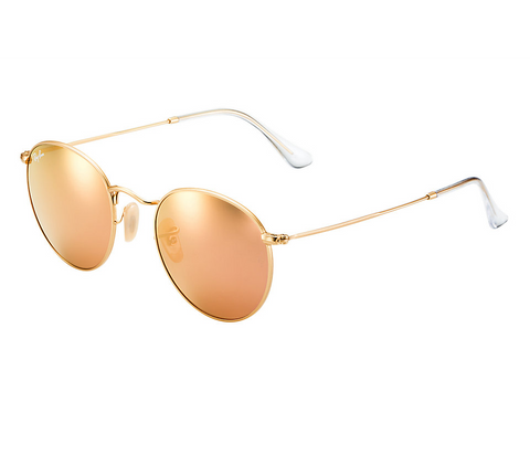 Ray-Ban Round Flash Lenses (Gold / Copper Flash)