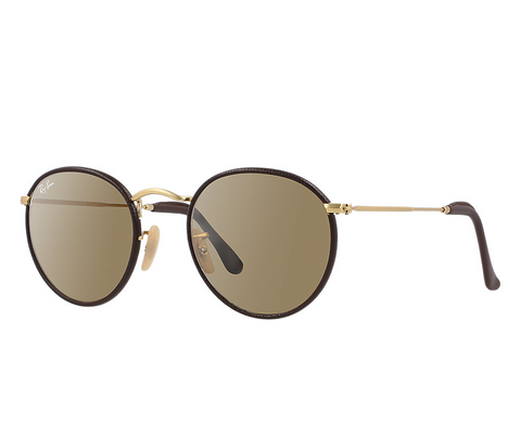 Ray-Ban Round Craft (Brown-Gold / Brown Classic)