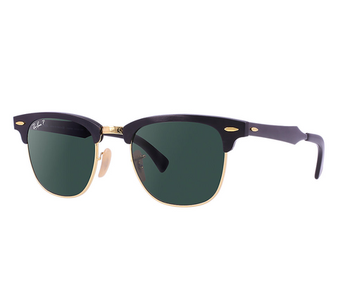 Clubmaster Aluminum (Black/Polarized Green Classic G-15)