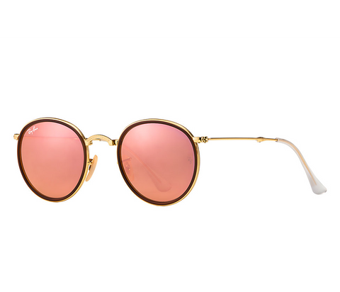 Ray-Ban Round Folding Flash Lenses (Gold / Copper Flash)