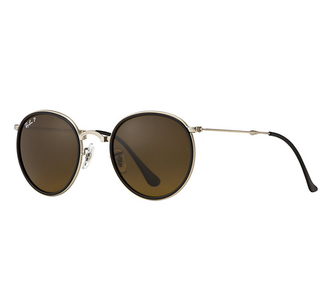Ray-Ban Round Folding Classic (Silver / Polarized Brown Classic B-15)