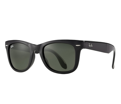 Wayfarer Folding Classic (Black/Crystal Green) [IN STOCK - NEXT DAY DELIVERY]