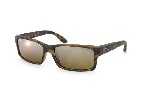Ray-Ban RB4151 (Matte Havana frame / Brown-Silver Mirror lenses)
