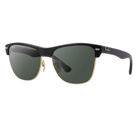 Clubmaster Oversized (Black/Green Classic G-15)