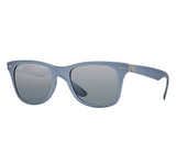 Ray-Ban Wayfarer Liteforce Gray Gradient Mirror (Gray, Silver frame / Gray Gradient Mirror lenses)